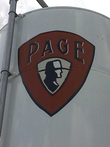 A tank outside of the James Page Brewery.